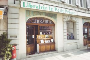 La devanture de la librairie Le Petit Prince dans la vieille ville de Morges