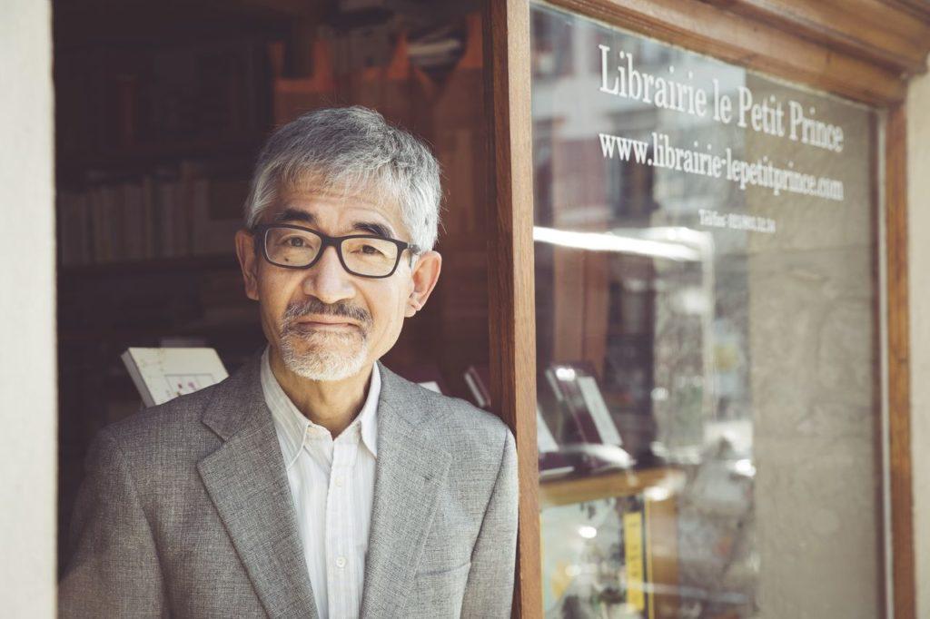 Nobuo Naito, libraire dans la vieille ville de Morges